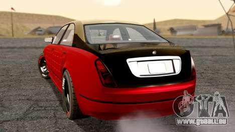GTA 5 Enus Cognoscenti 55 Arm pour GTA San Andreas laissé vue