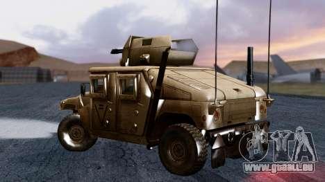 HUMVEE M1114 Desert für GTA San Andreas linke Ansicht