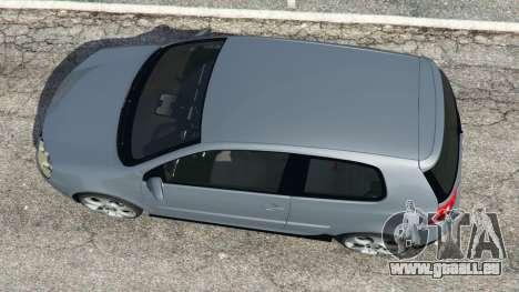 GTA 5 Volkswagen Golf Mk5 GTI 2006 v1.0 vue arrière