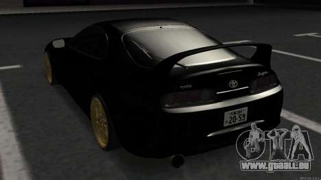 Toyota Supra Mid Night pour GTA San Andreas sur la vue arrière gauche