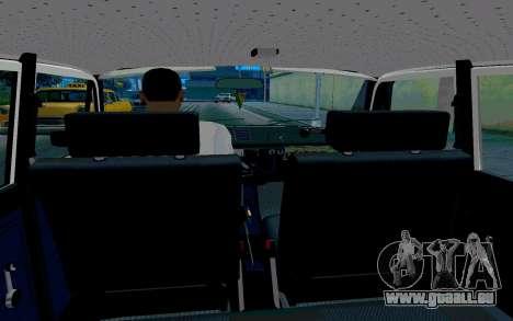 Moskvitch 412 Police pour GTA San Andreas vue intérieure