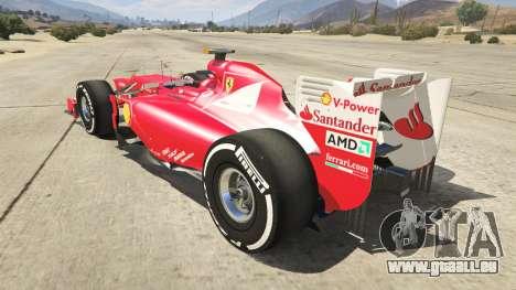 GTA 5 Ferrari F1 hinten links Seitenansicht