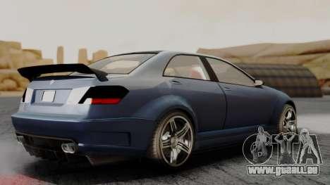 GTA 5 Benefactor Schafter V12 für GTA San Andreas zurück linke Ansicht