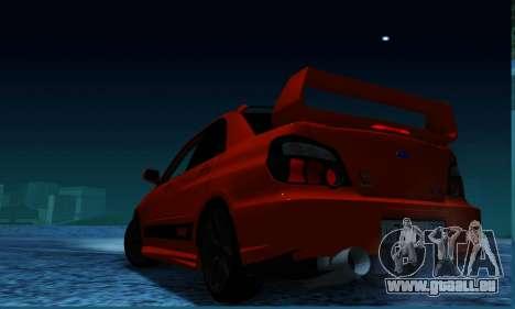 Subaru Impreza WRX STi LP 400 pour GTA San Andreas laissé vue