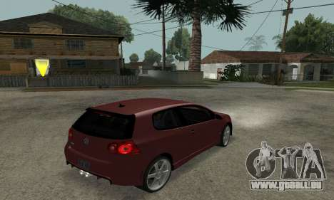 VW Golf R32 pour GTA San Andreas laissé vue