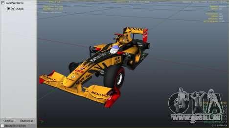 GTA 5 Renault F1 rechte Seitenansicht
