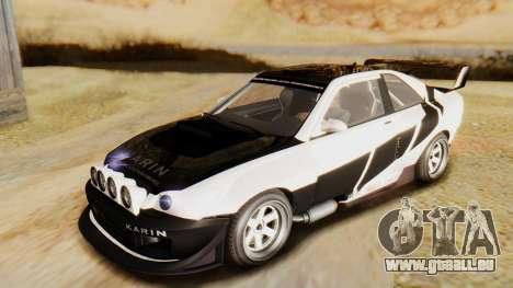GTA 5 Karin Sultan RS pour GTA San Andreas vue de dessous