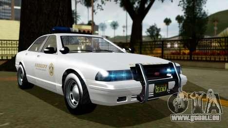 GTA 5 Vapid Stanier II Sheriff Cruiser pour GTA San Andreas