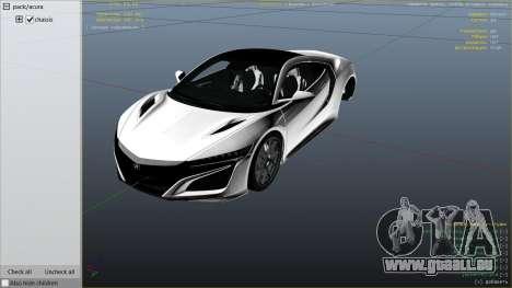 Acura NSX 2015 pour GTA 5