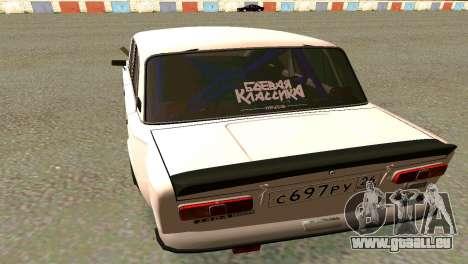 VAZ 2101 BC pour GTA San Andreas sur la vue arrière gauche