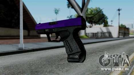 Purple Desert Eagle pour GTA San Andreas deuxième écran