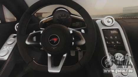 McLaren 650S Coupe Liberty Walk für GTA San Andreas Innenansicht
