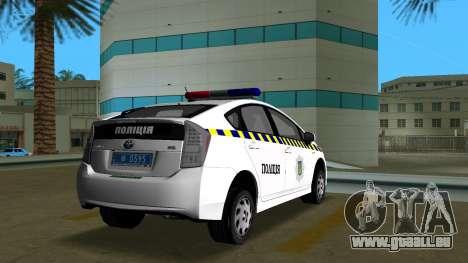 Toyota Prius Police De L'Ukraine pour GTA Vice City sur la vue arrière gauche
