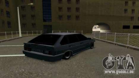 VAZ 2114 Brodyaga pour GTA San Andreas sur la vue arrière gauche