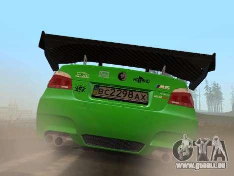 BMW m5 e60 Verdura pour GTA San Andreas sur la vue arrière gauche