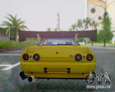 Nissan Skyline R32 GTR pour GTA San Andreas sur la vue arrière gauche