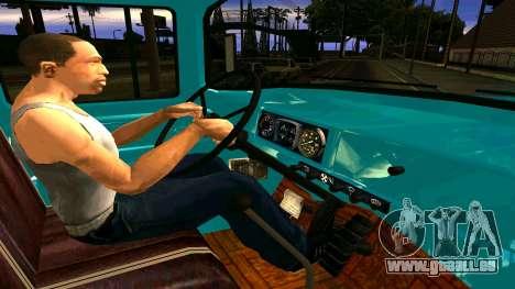 ZIL 130 pour GTA San Andreas vue intérieure