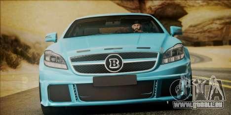 Mercedes-Benz CLS 63 BRABUS pour GTA San Andreas vue de droite