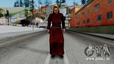 Monje Skull Gold Skin pour GTA San Andreas deuxième écran