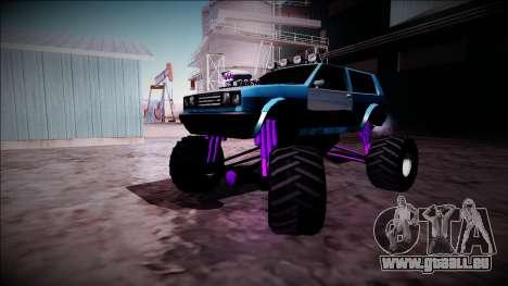 Club Monster Truck für GTA San Andreas Innenansicht