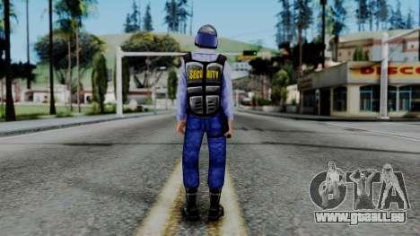 Barney Calhoun from Half Life Blue Shift pour GTA San Andreas troisième écran