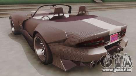 GTA 5 Bravado Banshee 900R Carbon pour GTA San Andreas sur la vue arrière gauche