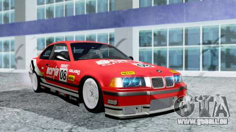 BMW M3 Coupe E36 (320i) 1997 pour GTA San Andreas vue de dessus