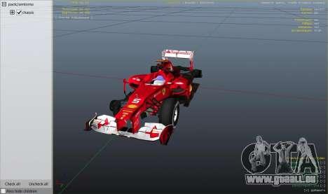 GTA 5 Ferrari F1 rechte Seitenansicht