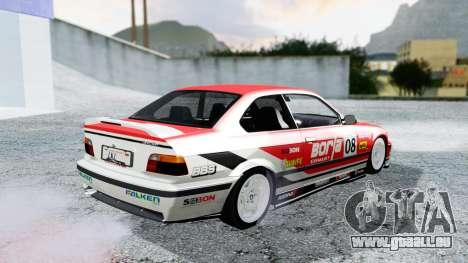 BMW M3 Coupe E36 (320i) 1997 pour GTA San Andreas vue de dessous