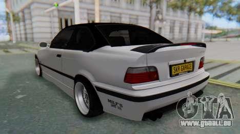 BMW 320i E36 MPower für GTA San Andreas zurück linke Ansicht