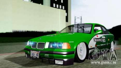 BMW M3 Coupe E36 (320i) 1997 pour GTA San Andreas vue arrière