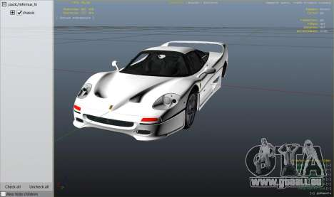 GTA 5 Ferrari F50 Autovista rechte Seitenansicht