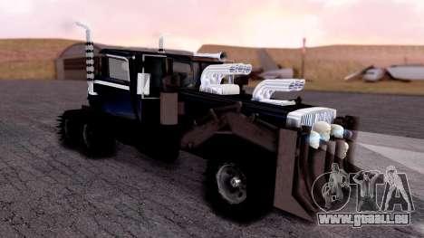Mad Max The War Rig Bilge Tuning pour GTA San Andreas sur la vue arrière gauche