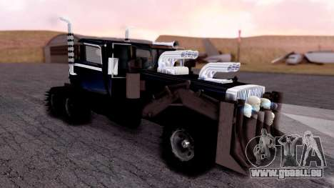 Mad Max The War Rig Bilge Tuning für GTA San Andreas zurück linke Ansicht