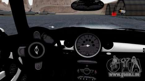 Mini John Cooper Works Mr.Bean pour GTA San Andreas vue de droite