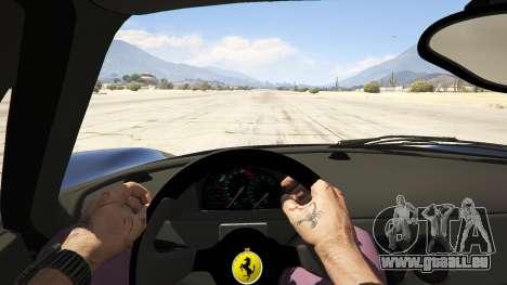 GTA 5 Ferrari F50 Autovista vue arrière