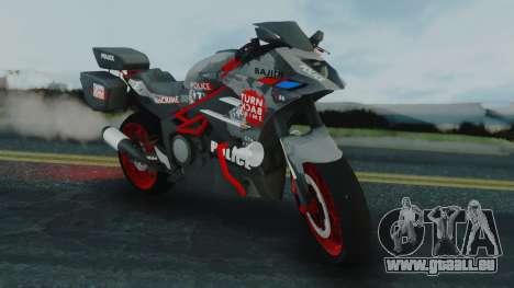Bajidi R86 Police pour GTA San Andreas sur la vue arrière gauche