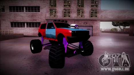 Club Monster Truck pour GTA San Andreas vue de dessus
