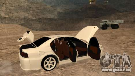 Mitsubishi Galant VR-4 (2JZ-GTE) pour GTA San Andreas sur la vue arrière gauche