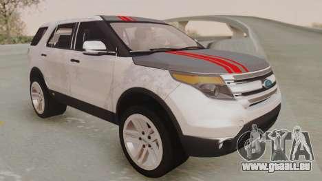 Ford Explorer für GTA San Andreas Seitenansicht