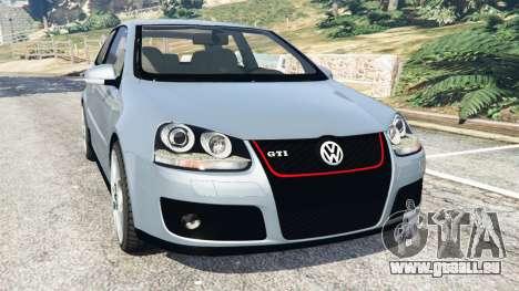 Volkswagen Golf Mk5 GTI 2006 v1.0 pour GTA 5