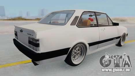 Chevrolet Chevette Stance pour GTA San Andreas sur la vue arrière gauche
