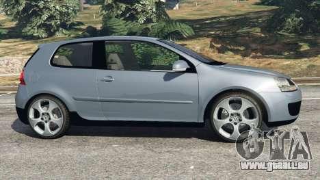 GTA 5 Volkswagen Golf Mk5 GTI 2006 v1.0 vue latérale gauche