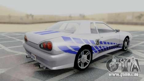 Elegy 2F2F Skyline PJ pour GTA San Andreas laissé vue