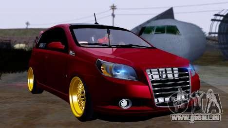 Chevrolet Aveo Stance pour GTA San Andreas