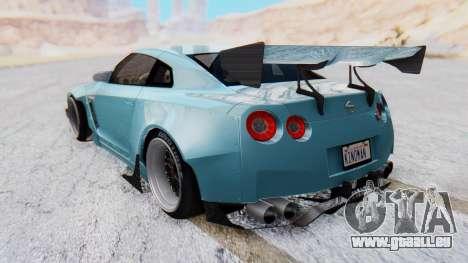 Nissan GT-R R35 Rocket Bunny v2 pour GTA San Andreas laissé vue