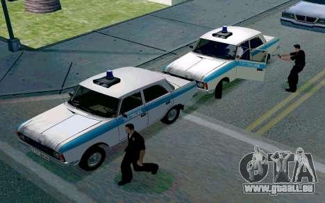 Moskwitsch 412 Polizei für GTA San Andreas Rückansicht