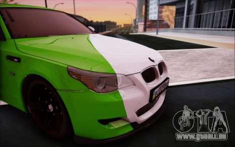 BMW m5 e60 Verdura pour GTA San Andreas vue arrière