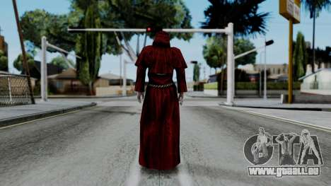 Monje Skull Gold Skin pour GTA San Andreas troisième écran