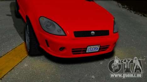 GTA 5 Declasse Premier Coupe IVF für GTA San Andreas rechten Ansicht